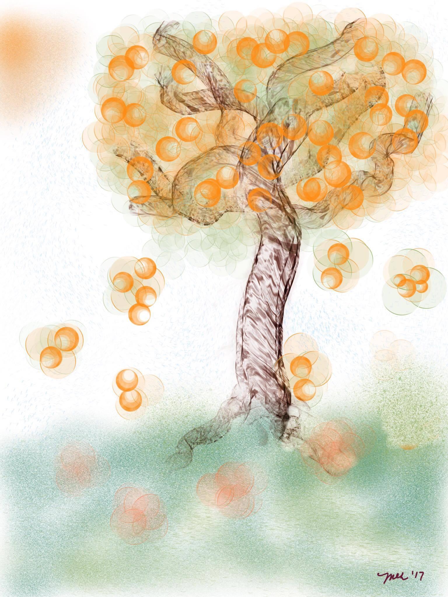 Autumn Tree by Martha