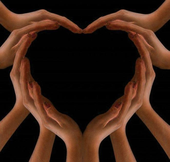 healing hands heart image